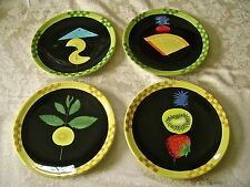 "SET OF 8 DEPARTMENT 56 ""WILD FLOWERS"" 6 3/4"" HORS D'OEUVRES PLATES - MINT!"