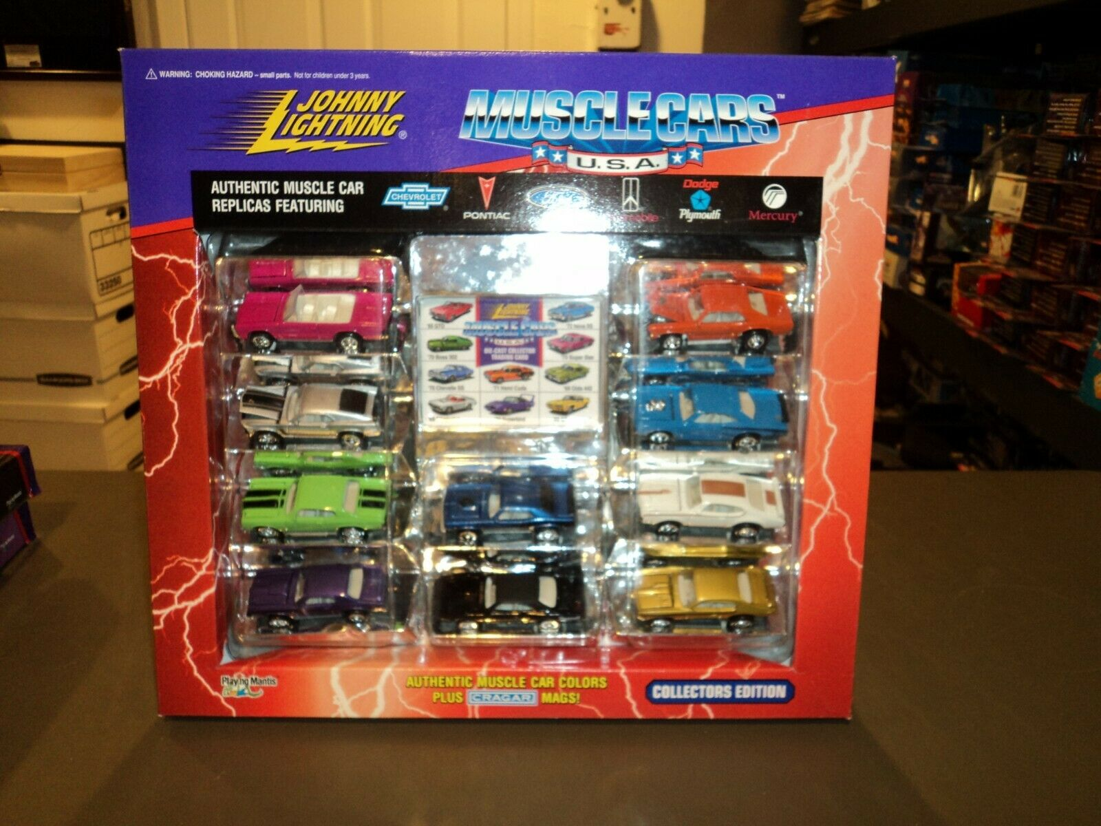 Nouveau JOHNNY LIGHTNING MUSCLE CARS USA 10 voiture Set Collection 1 64 DIE CAST 1995