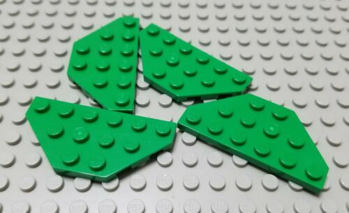 LEGO Lot of 4 Green 3x6 Cut Corner Plate Pieces