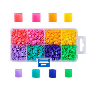 1-Box-Tube-PE-DIY-Melty-Beads-Fuse-Beads-Refills-for-Kids-5x5mm-Hole-3mm-1100pcs