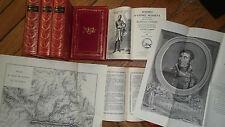 Napoléon Masséna duc de Rivoli 7 vol+atlas  Mémoires d André