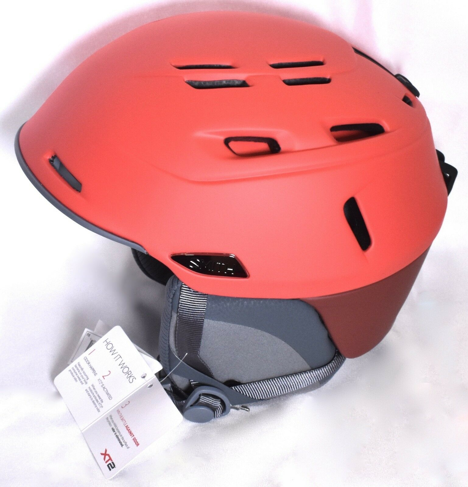 SMITH Camber Adult Snow Sports  Helmet (Size L 59-63 cm) Matte Rise Red  NEW  for sale online