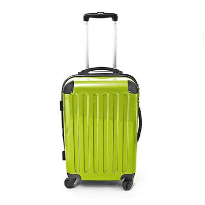 Trolley Koffer Polycarbonat Hartschale Hochglanz 45L 4 Stück 360° Rollen