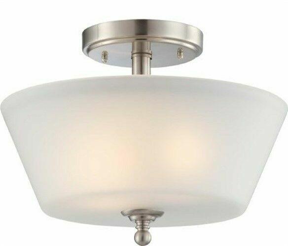 Light Surrey Semi Flush Dome