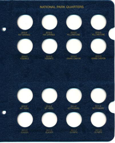 Whitman Classic Coin Album 3057 National Park Quarter 2010-2021 P /& D Mints