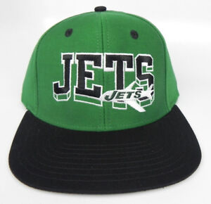 5fe2f2c220c NEW YORK JETS NFL VINTAGE FLAT BILL SNAPBACK RETRO 2-TONE BLOCK CAP ...