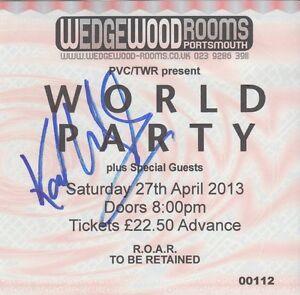 Karl Wallinger amp World Party  SIGNED Used Ticket 2013 - Thatcham, Berkshire, United Kingdom - Karl Wallinger amp World Party  SIGNED Used Ticket 2013 - Thatcham, Berkshire, United Kingdom
