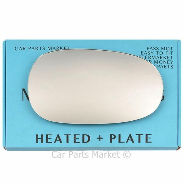 plate Left side Wing door mirror glass for Jaguar X-Type 2001-08 heated