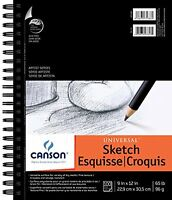 Canson 9-inch By 12-inch Universal Sketch Book, 100-sheet , New, Free Shipping