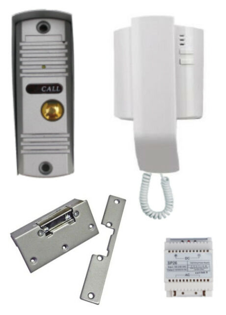 Audio Door Entry Intercom Kit With Yale Type Lock Release 2 Wire