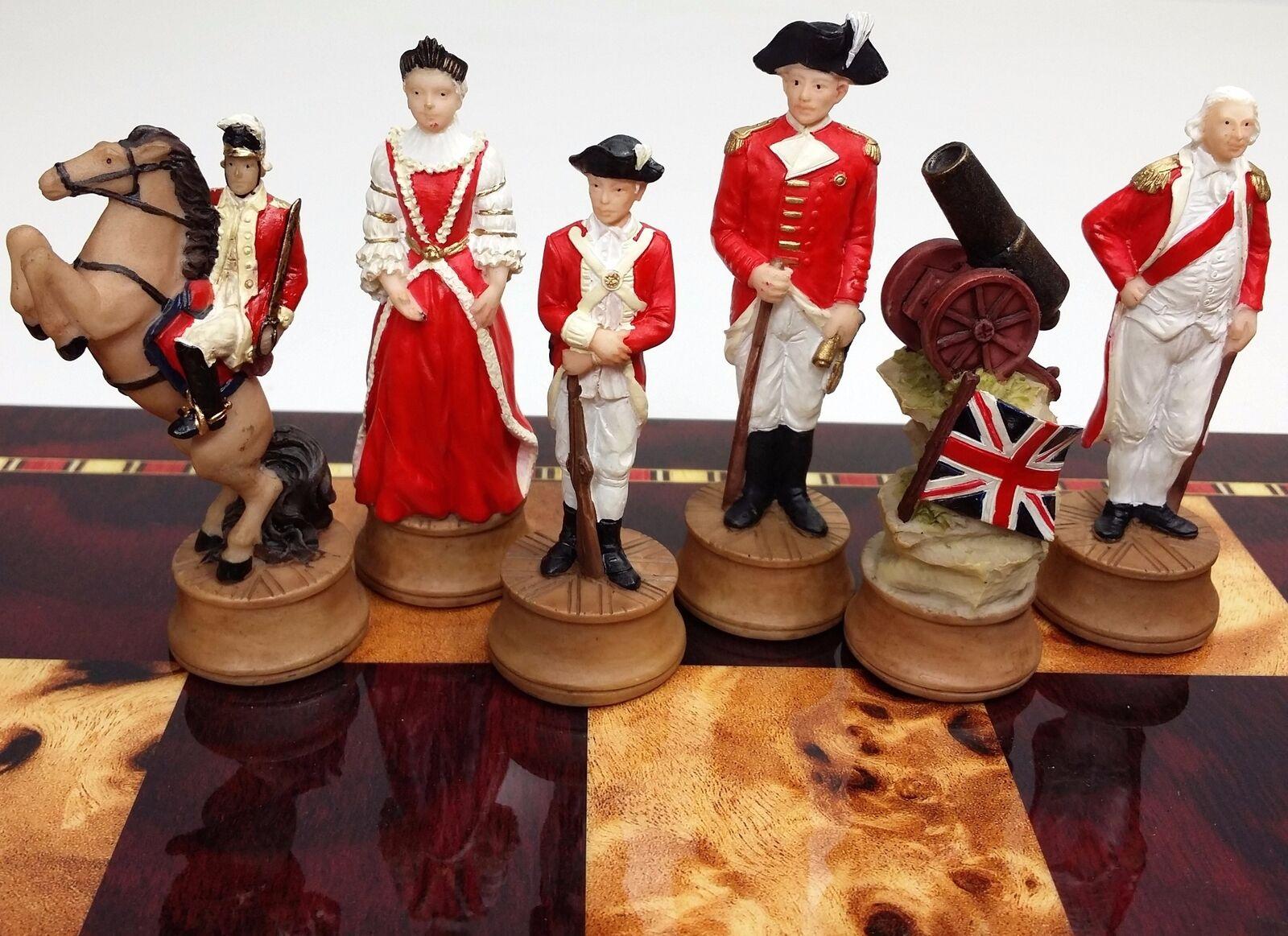 AMERICAN REVOLUTIONARY War Chess Uomo Set independence revolution NO BOARD