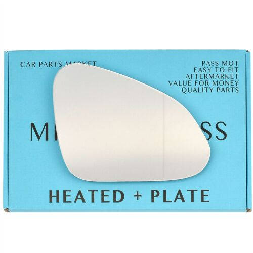 For Vauxhall Insignia 08-17 Right Aspheric Electric wing mirror glass plate