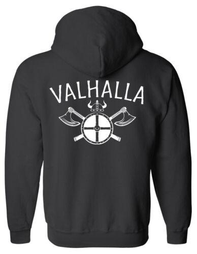 Odin Thor Viking Ragnarok Valhalla Norse VALHALLA Zip Hoodie