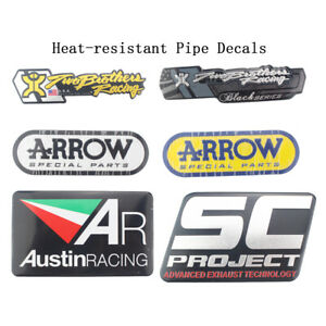 Details about Motorcycle Exhaust Pipes Decal Aluminium Heat-resistant  Exhaust Sticker Decals