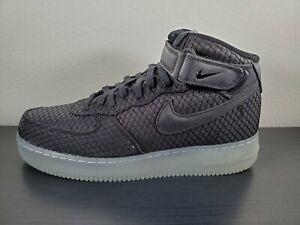 Sz-10-5-Nike-Air-Force-1-Mid-07-LV8-Mens-804609-005-Black-Silver-White-Shoes