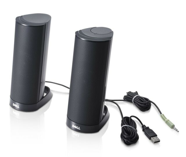 New Dell AX210CR Black USB Powered Stereo Speakers