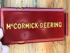 Mccormick Deering Antique Tractor Part Farm Advertising Cast Iron Lid