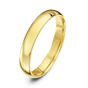 18ct Yellow Gold Court Wedding Ring 2,3,4,5,6mm comfort fit wedding band