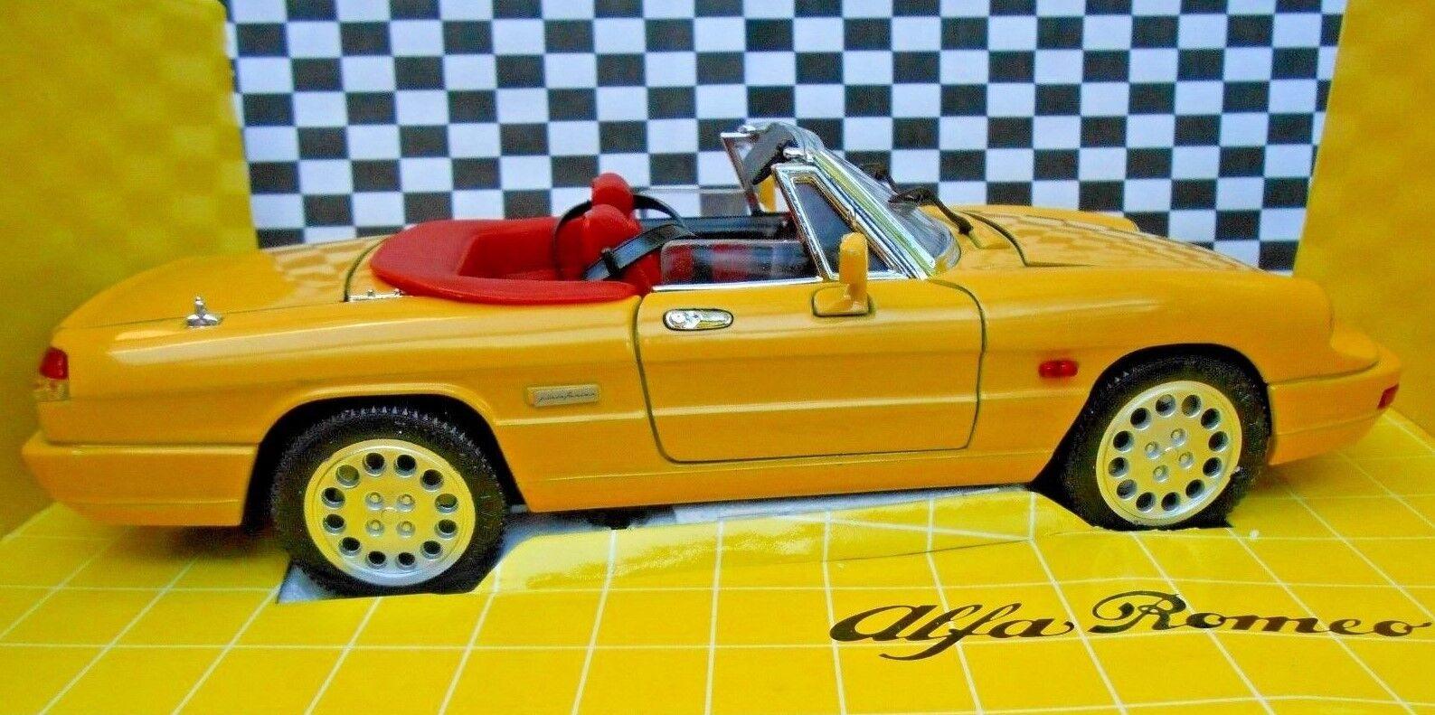 Jouef  Evolution 1 18 ALFA ROMEO SPYDER CONVERTIBLE  by Pininfarina - jaune rouge  haute qualité générale