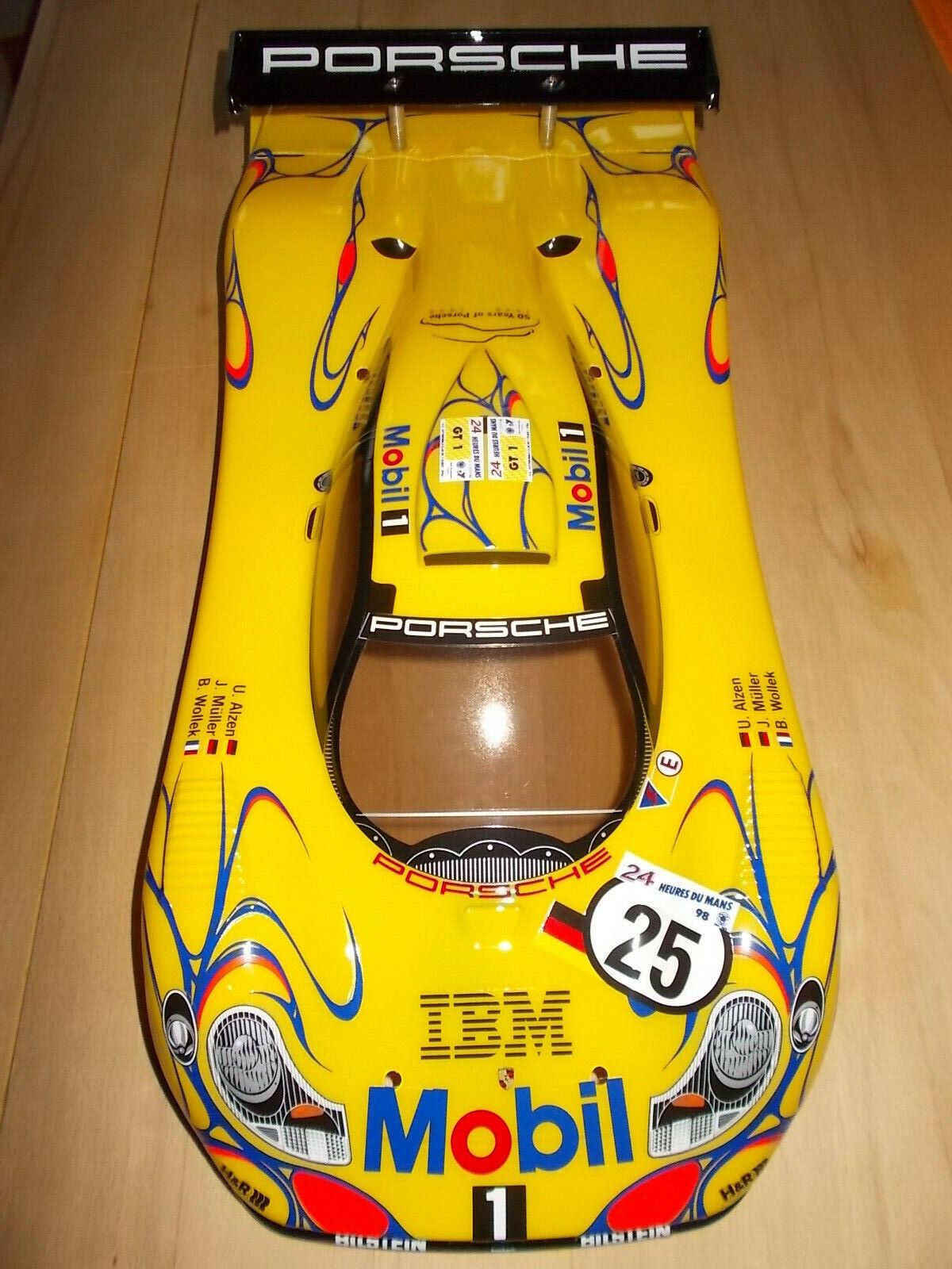 Tamiya 50826 Porsche 911 gt1 Cocherocería construido frase en amarillo, 1 10, 1 10, nuevo, New