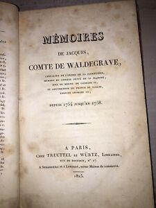 Comte de Waldegrave - Mémoires depuis 1754 jusqu'en 1758 - 1825