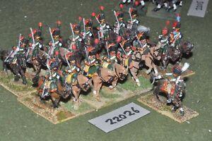 25mm Napoléon / Français - Garde Chasseur A Cheval 17 Cav Cavalerie De Figues (22026)