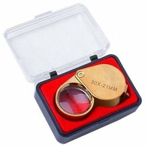 Goldene-30X-21mm-Schmuck-Lupe-Glas-Loupe-Lupe-GY