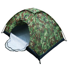 1/2 Person Camouflage Instant Tent Single Layer Waterproof Camping Hiking Travel