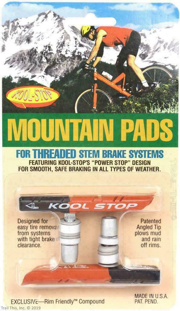 Kool-Stop Dual Compound Mountain Brake Shoe Black//Salmon Threaded Linear Pull