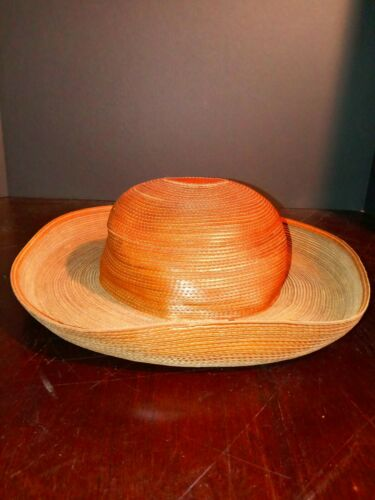 Patricia Underwood Hat Womens Wide Turned Brim Le… - image 1