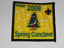 BOY SCOUTS  www 2009 spring conclave patch