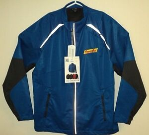 POWER-BAR-NEW-w-TAGS-Blue-Jacket-XL-Embroidered-Logo-Reflective-Full-Zip