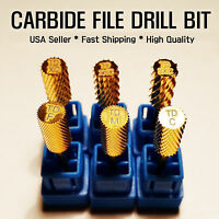 6 Size Electric Cylinder Carbide File Drill Bit Nail Art Manicure Pedicure Tool