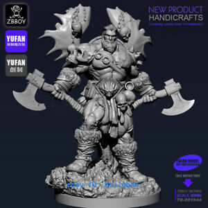 1-18-Scale-God-Of-War-With-Axe-Resin-Figure-Model-Kits-YUFAN-Model-90mm-Statue