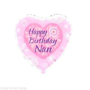 Image Is Loading 18 034 FOIL BALLOON HAPPY BIRTHDAY NAN PINK