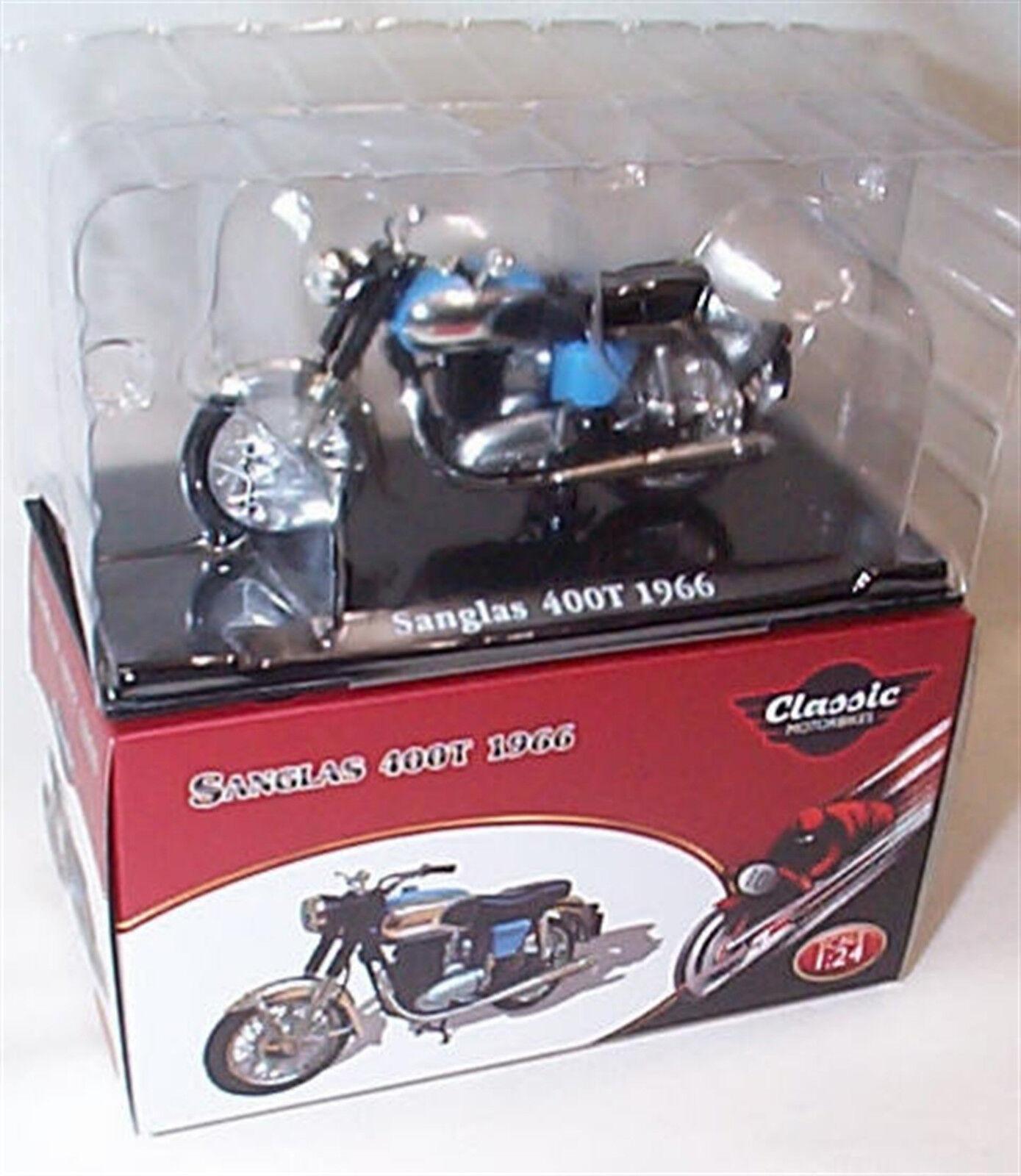 Sanglas 400T 1966 Classic Motorbike 1-24 Scale New in Case Case Case Atlas f30b87