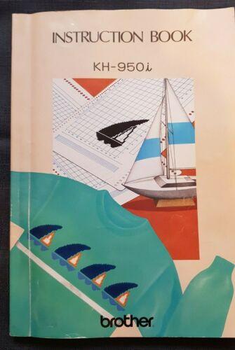 Libros electrónicos BK474 máquina de tejer hermano KH950I KH-950 manual de instrucciones
