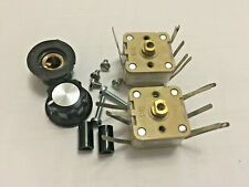 2 Off Qrp Atucrystal Set 500pf Variable Capacitors And Mounting Hardware