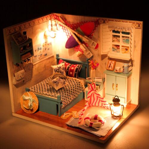 I miei ragazzi camera da letto fai da te Handcraft in miniatura casa di bambole in legno 2017