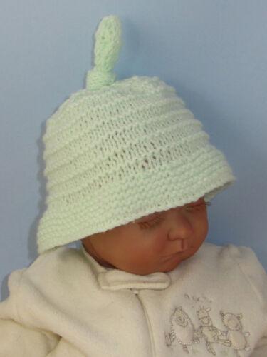 Impreso instructions-baby Big ala Stripey topknot Beanie Tejer patrón