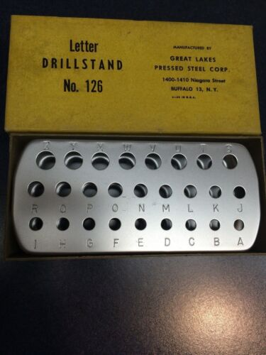 LETTER DRILLSTAND A-Z GREAT LAKES PRESSED STEEL CORP #126 LL1721