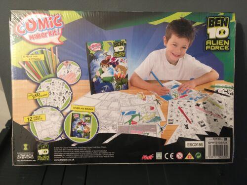 Ben 10 Alien Force Cartoon Network Comic Maker Kit Brand New Sealed 250 Autocollants