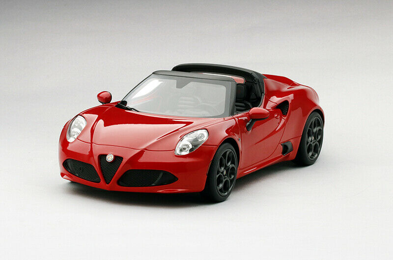Alfa Romeo 4C Spider Rosso Alfa Resin Model in 1 18 Scale Topspeed  TS0016