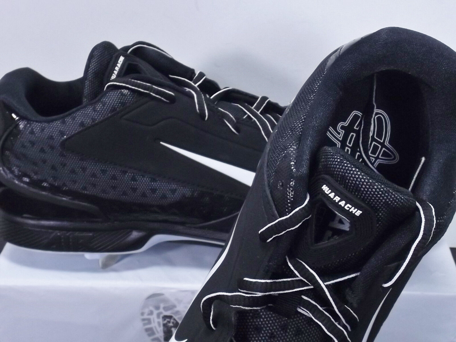 05f65eeb26ff6 ... Nike Air Huarache Pro Low Low Low Metal 599233-001 Men s Size 14 Black   ...