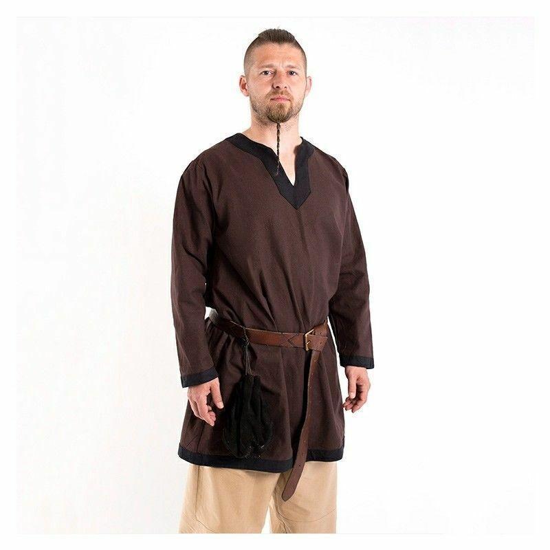 Medieval Celtic Viking Tunic Long Sleeves Pirate renaissance Surc