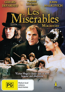 Details about Gerard Depardieu John Malkovich LES MISERABLES - TV MINI  SERIES DVD (NEW/SEALED)