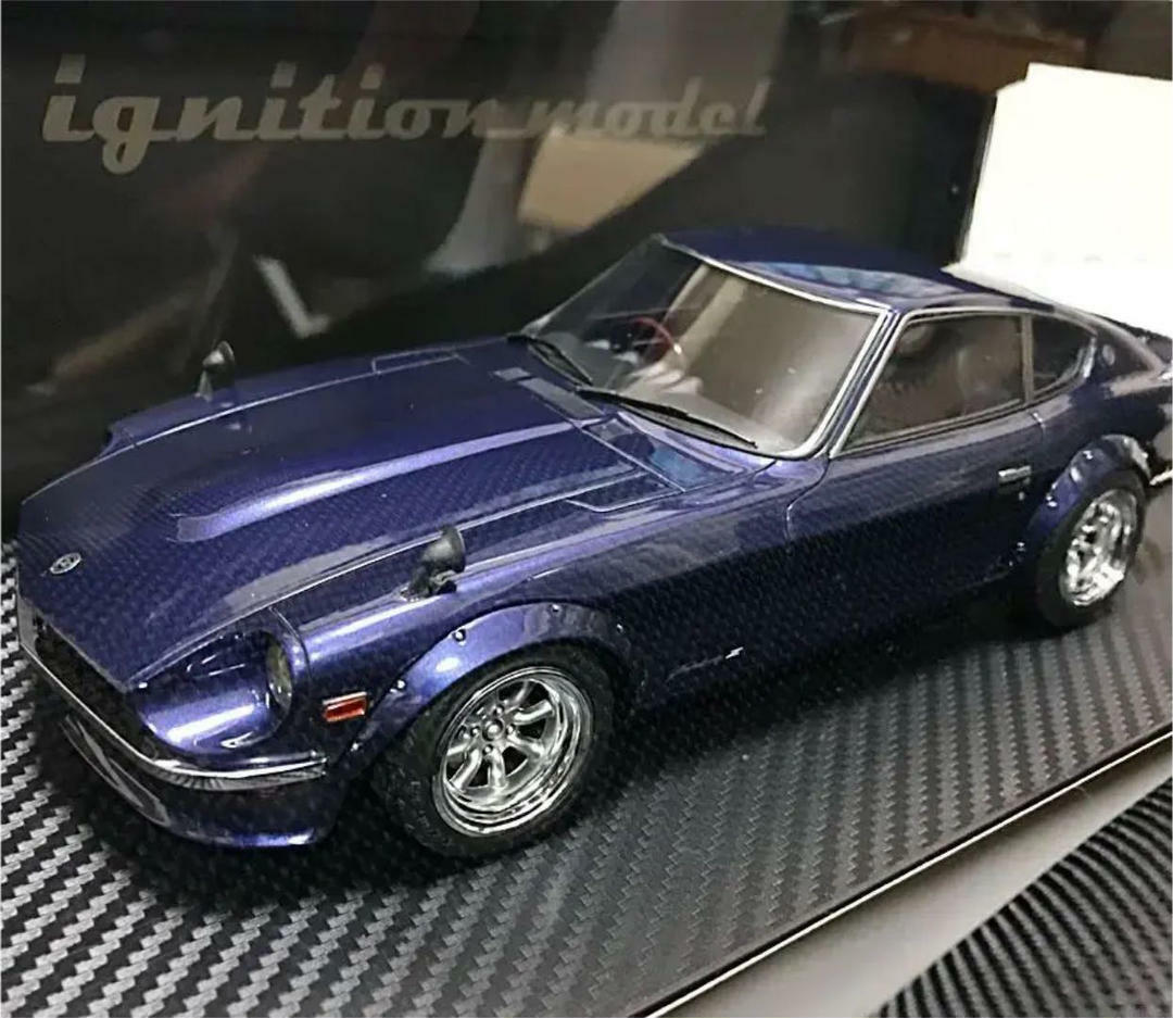 Kyosho Mini voiture 1 18 Nissan Fairlady Z S30 bleu Limited Inutilisé Rare From Japan