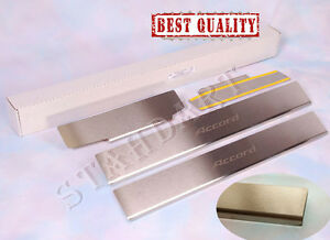 Honda-Accord-7-2003-08-Stainless-Steel-Door-Sill-Entry-Covers-Scuff-Protectors