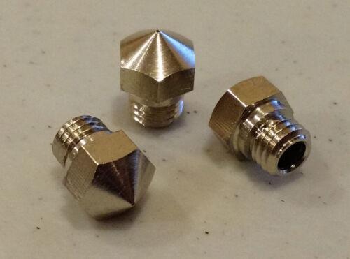 2pcs P3D-4N3 HIGH LUBRICITY 3D Printer Nozzle 4mm x .4mm MK10 Flashforge USA