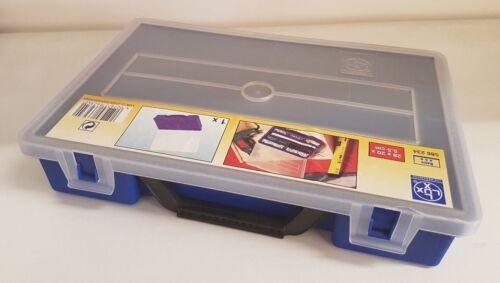 Lux Aufbewahrungsbox Kiste Blau Kleinteile 10 Fächer 20x28x5,5 Sortimentskasten
